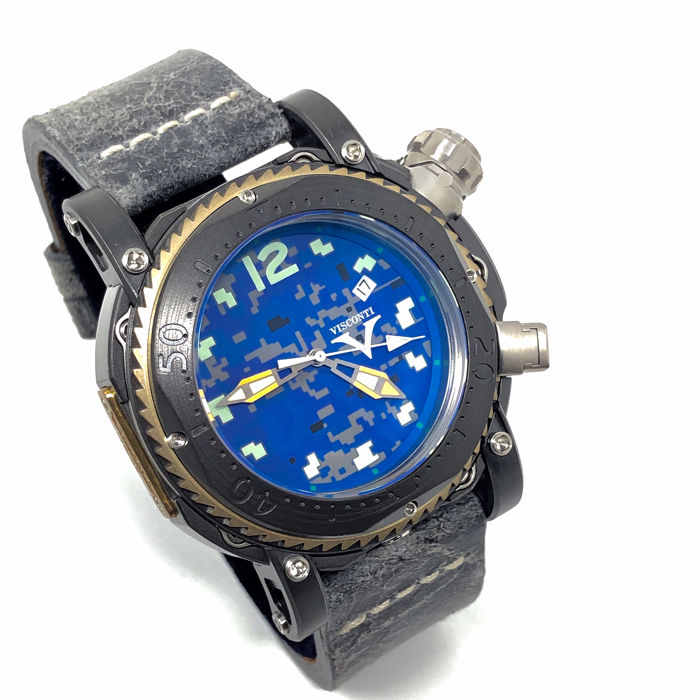 Visconti - Pro Dive 3000 Camo Urban Navy Limited Edition 12/29 - KW55-01 - Heren - BRAND NEW