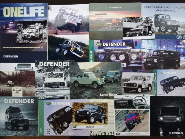 宣傳冊、產品目錄和工廠照片 - LAND ROVER Defender 88, 109, 90 Hard Top, 110 County, 130 Crew Cab, Defender SVX, Defender XS, etc - 1979-2010 (21 件)