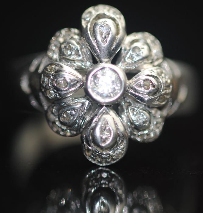 925 Silber - Diamanten, Ring
