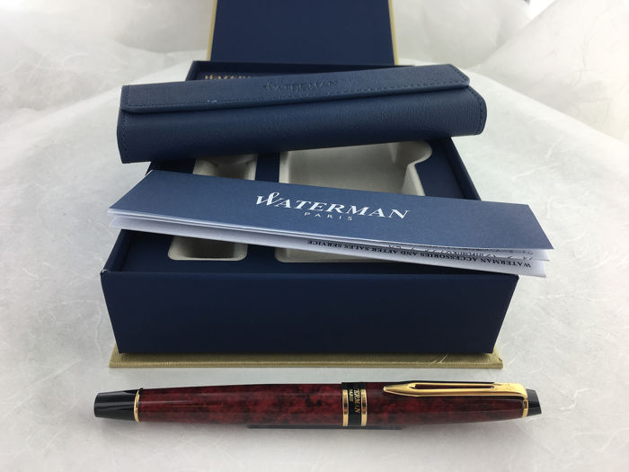 Waterman - Expert Marbled Red Rollerball