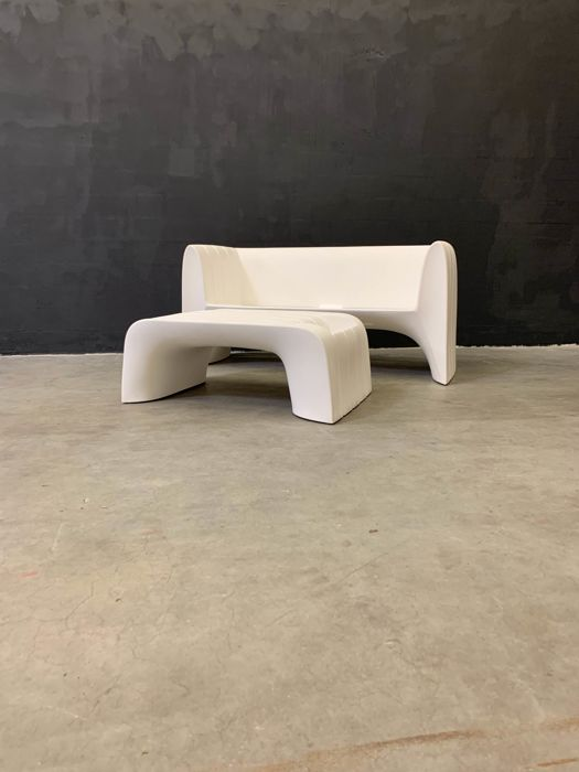 Moredesign - TwentyFirst LivingArt - Bench, Side table (2) - Salon ...