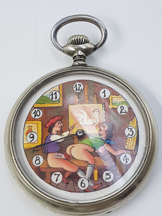 Doxa -  Erotic pocket watch - Unisex - 1901-1949