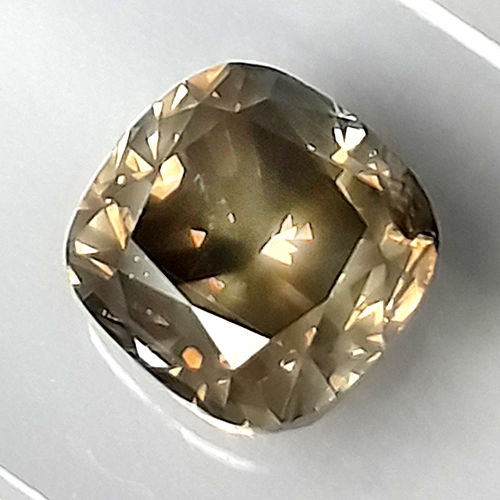 Diamant - 1.62 ct - Coussin - fancy light yellowish brown - I1