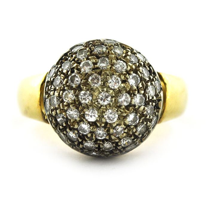 Luxury - 18 quilates Oro amarillo, Oro blanco - Anillo Diamante