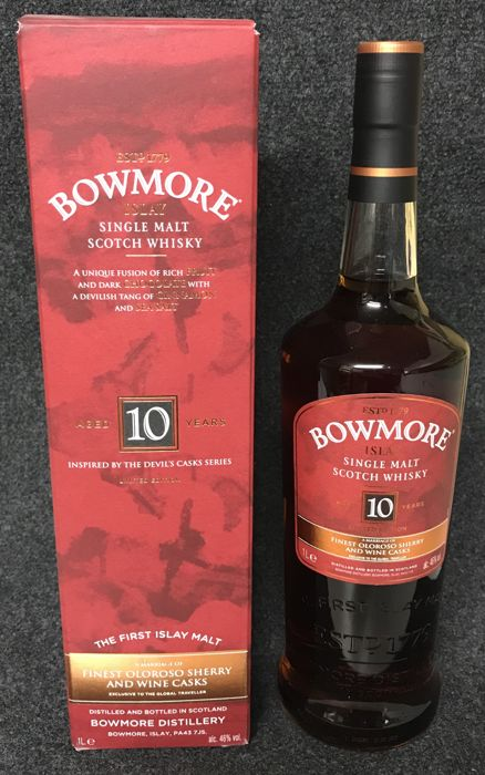 Bowmore 10 years old Inspired by The Devil's Casks Series Limited Edition - 1,0 litros