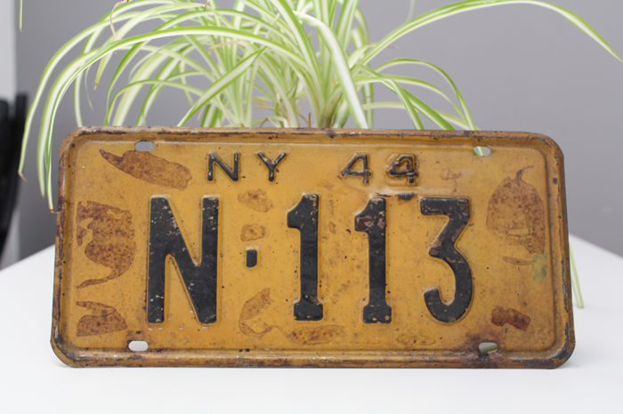 Number plate - 1944 New York USA - 1944-1944