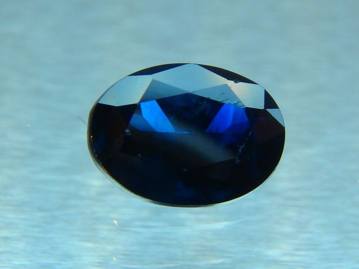 1 pcs Blu Zaffiro - 0.74 ct