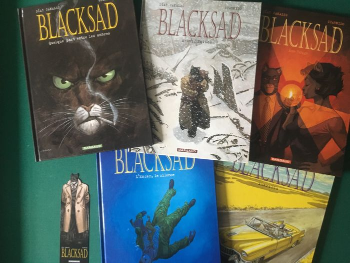 Blacksad T1 à T5 - 5x C - First edition - (2000/2013)