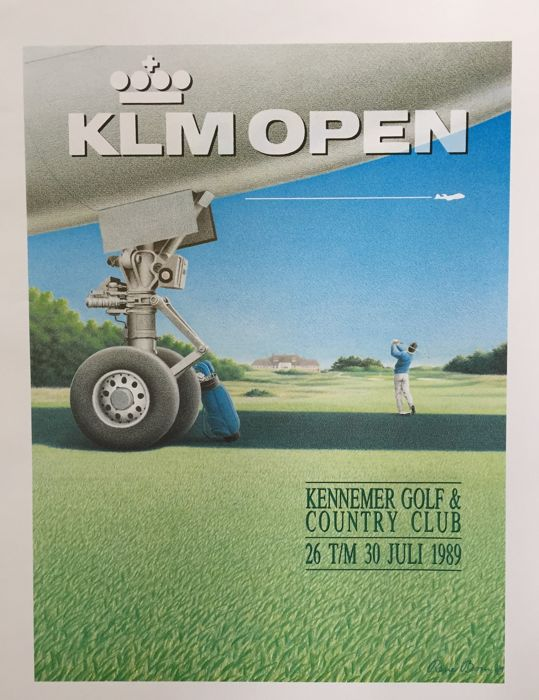 Rene Boin - KLM open Kennemer Golf & Country Club  - 1989