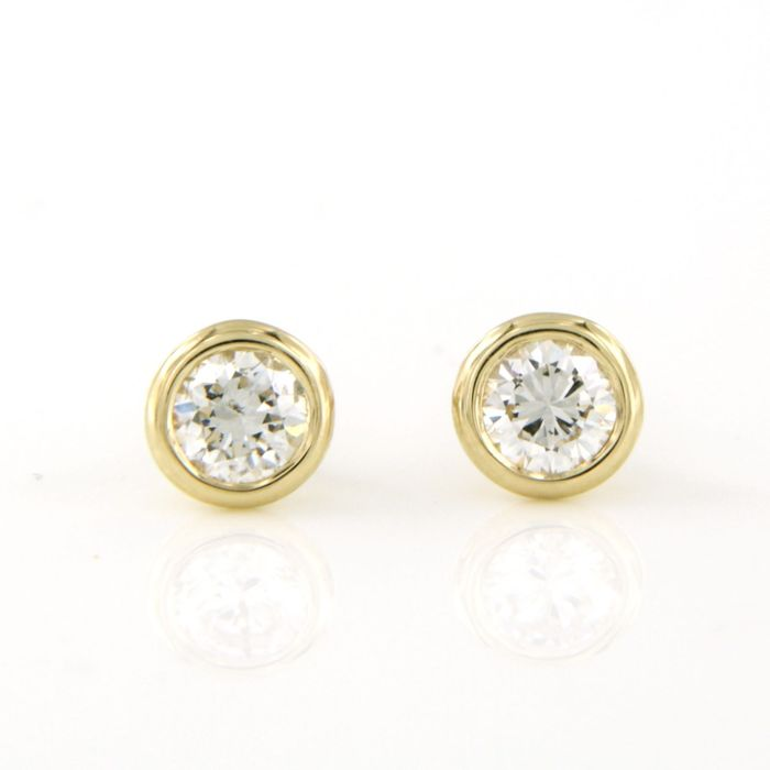 18 quilates Oro amarillo - Pendientes - 0.28 ct Diamante