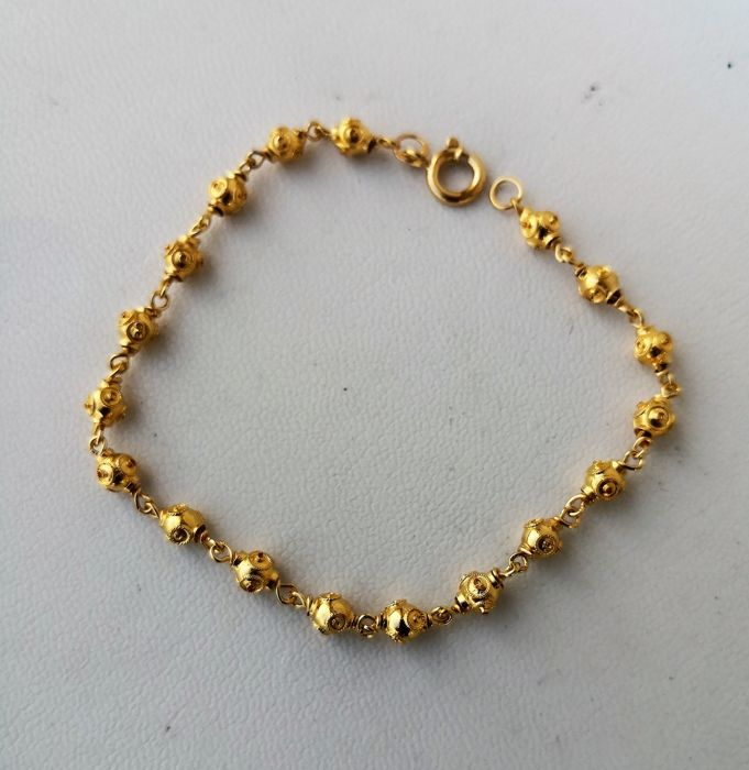 19,2 kt. Yellow gold - Bracelet