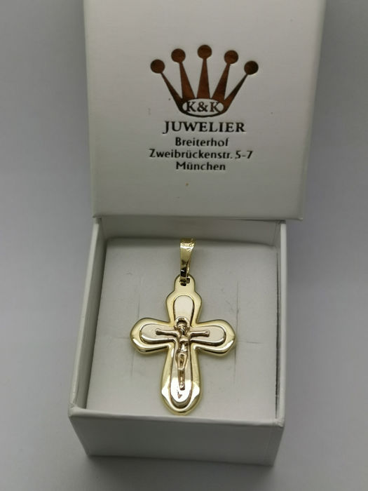14 kt. Gold, White gold, Yellow gold - Pendant