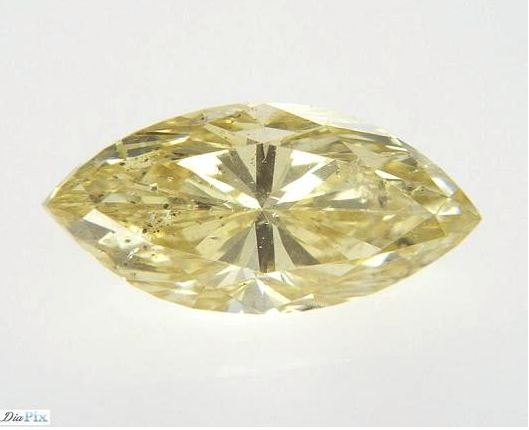 Diamante - 0.72 ct - Marquesita - fancy yellow - SI2