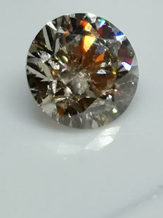 1 pcs Diamante - 1.65 ct - Brillante - SI2