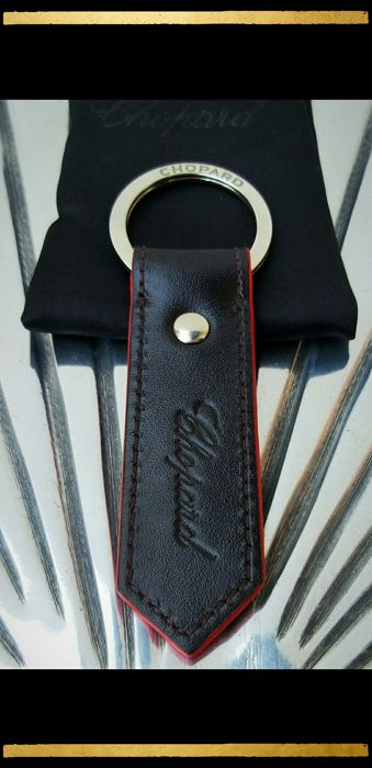 Chopard 1000 Miglia Leather Keychain - Keyring - Leather ware - Keyholder - Complete collection of 1