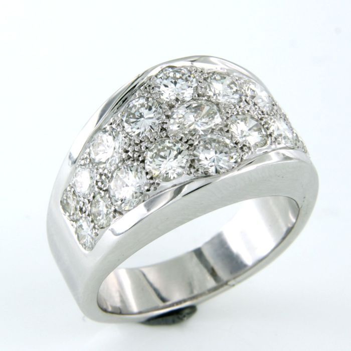 18 karaat Witgoud - Ring - 2.00 ct Diamant