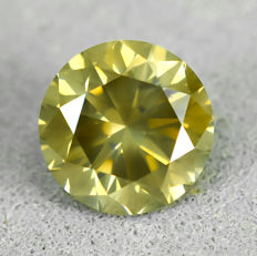 Diamant - 1.12 ct - Brilliant - Nat. Fancy Deep Brownish Yellow - SI1