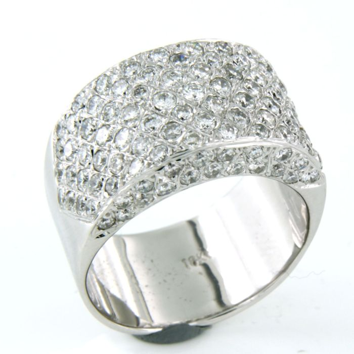 18 karat Hvitt gull - Ring - 2.00 ct Diamant