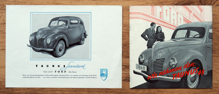 Brochures / Catalogi - Ford Taunus 1948 - 1948-1948