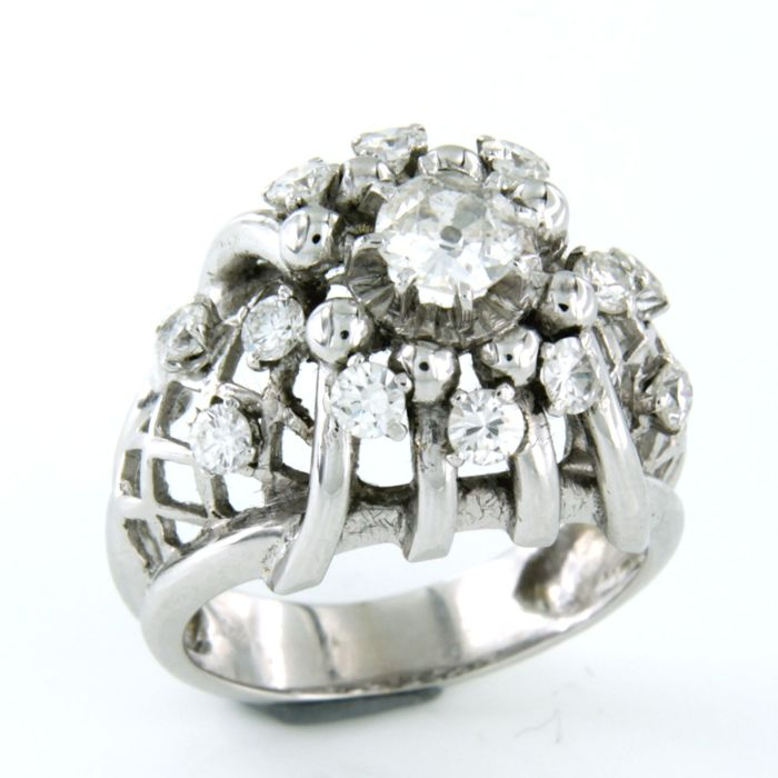 18 quilates Oro blanco - Anillo - 1.30 ct Diamante