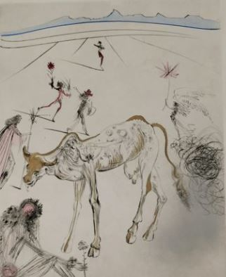 Salvador Dalí  -  La Vache Sacrée. From The Hippies