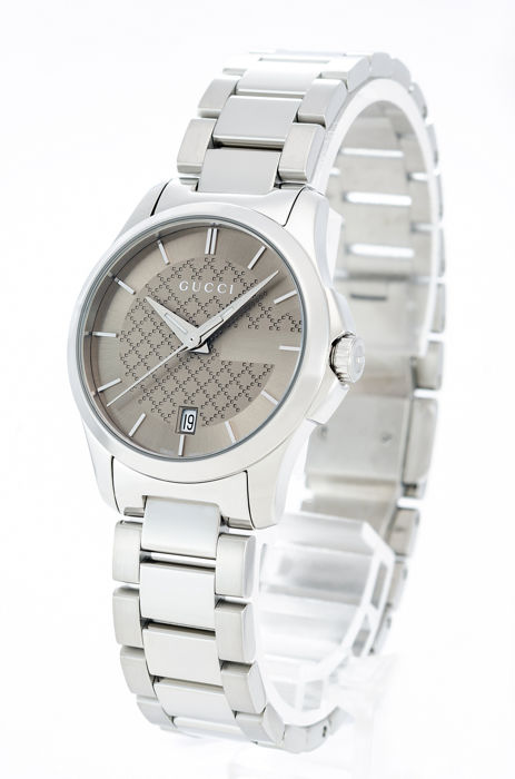Gucci - G-Timeless Brown Dial Stainless Steel Ladies Watch - YA126526 - Women - 2011-present
