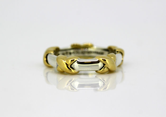 Tiffany - 18 kt. Silver, Yellow gold - Ring
