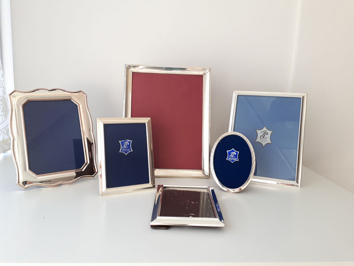 Photo Frames Bathed Sterling Silver (6) - Silverplate - Spain - 1950-1999