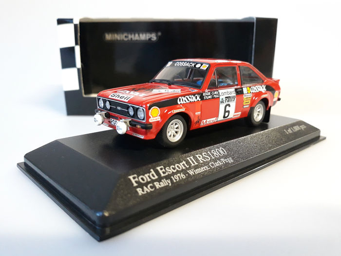 MiniChamps - 1:43 - Ford Escort II RS1800 #6 Winners RAC Rally 1976 - Limited Edition of 1.008 pcs.
