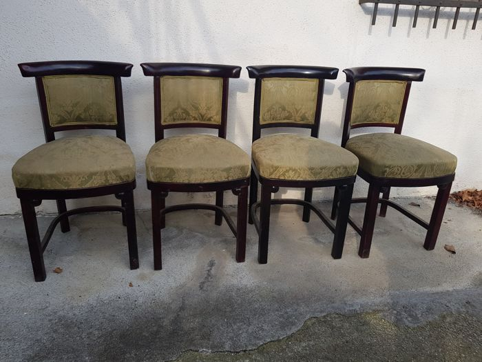 Josef Hoffmann - Thonet - Set 4 chairs Fledermaus Mundus Thonet Vienna