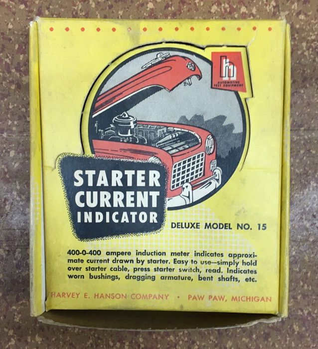 Tools - Harvey E. Hanson - Starter current indicator - 1950 (1 items)