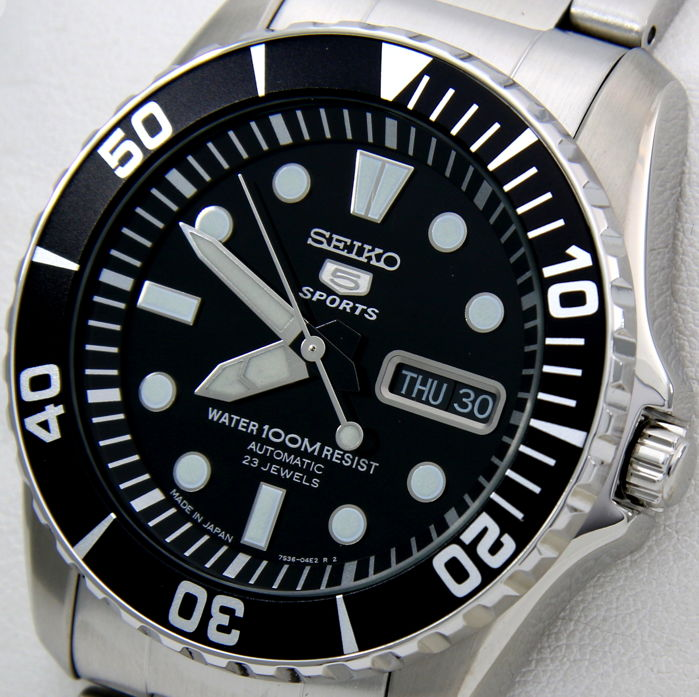 "Seiko - Automatic 23 Jewels 100M ""Black Dial"" - Made in Japan - - Uomo - 2018"
