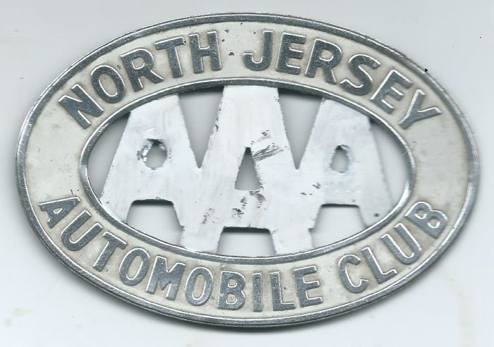 Emblem / mascot - AAA North Jersey Automobile Club Car Badge 12 x 8 Centimeter - 1960-1960 (1 items)