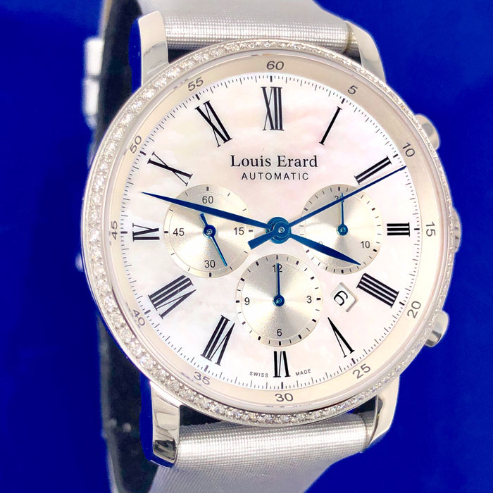 "Louis Erard - Excellence Collection Automatic Diamonds Chronograph - 84234SE04.BAV12 - ""NO RESERVE PRICE"" - Dames - BRAND NEW"