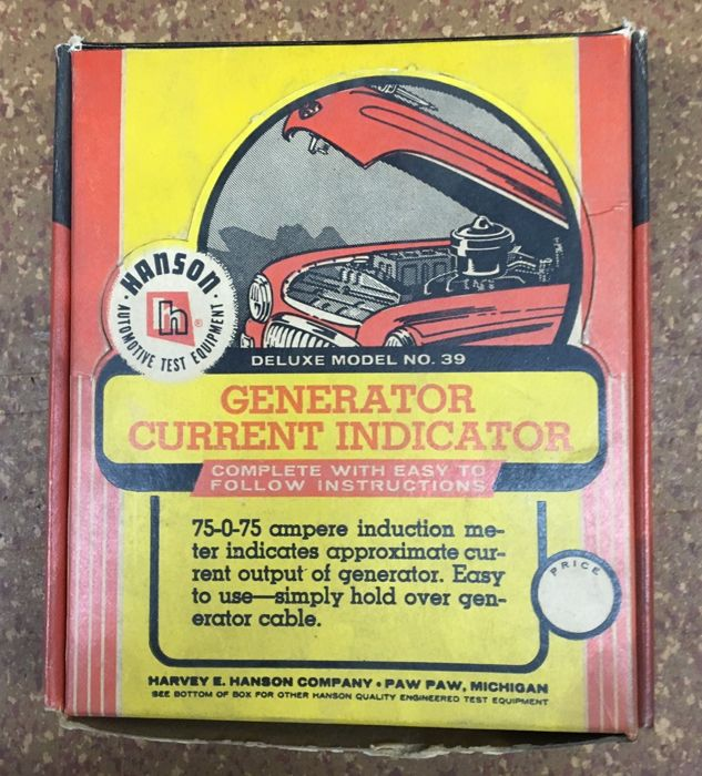 Tools - Harvey E. Hanson - Generator current indicator - 1950 (1 items)