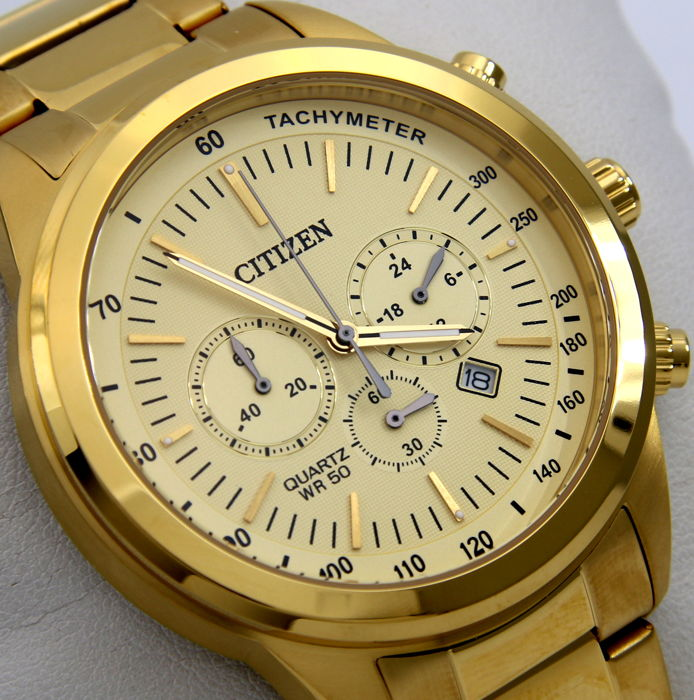 "Citizen - Cronograph ""All Gold"" Big Dial - - ""NO RESERVE PRICE"" - - Herren - 2017"