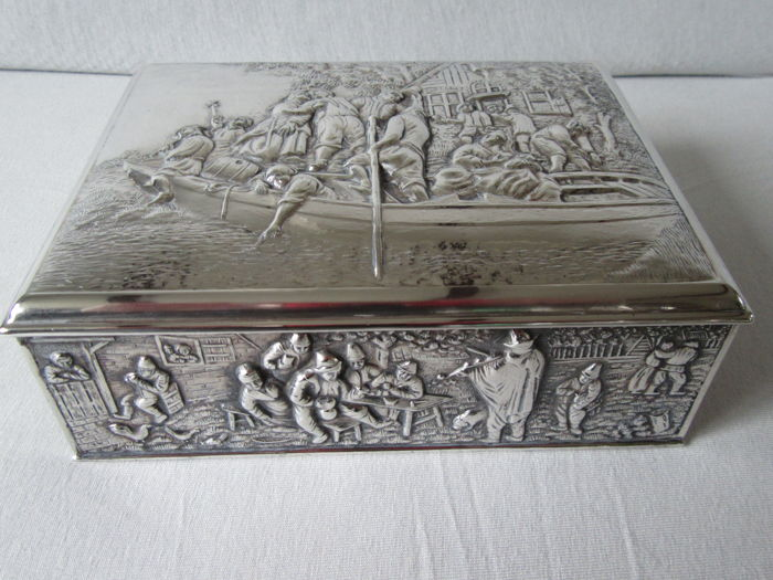 Costume jewelry box (1) - Silverplate - Herman Hooijkaas - Netherlands - 1950-1999