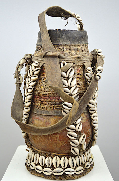 Milk Container - Gourd, Hide, Cowries - Chicho - Borana/Oromo/Gabra