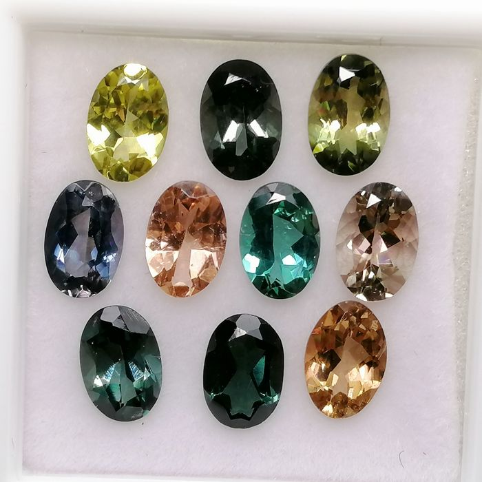 10 pcs  Tourmaline - 4.79 ct