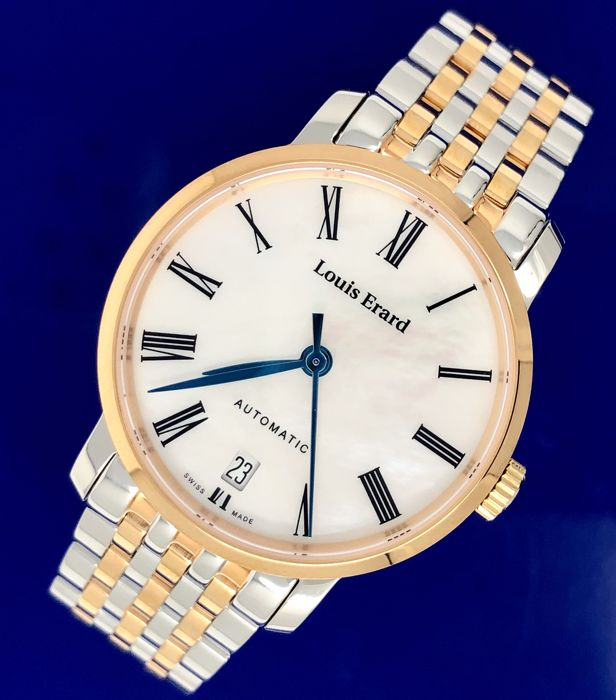 "Louis Erard - Excellence Automatic 2 Tone MOP ""NO RESERVE PRICE"" - 68235PR01.BMA52 - Women - Brand New"