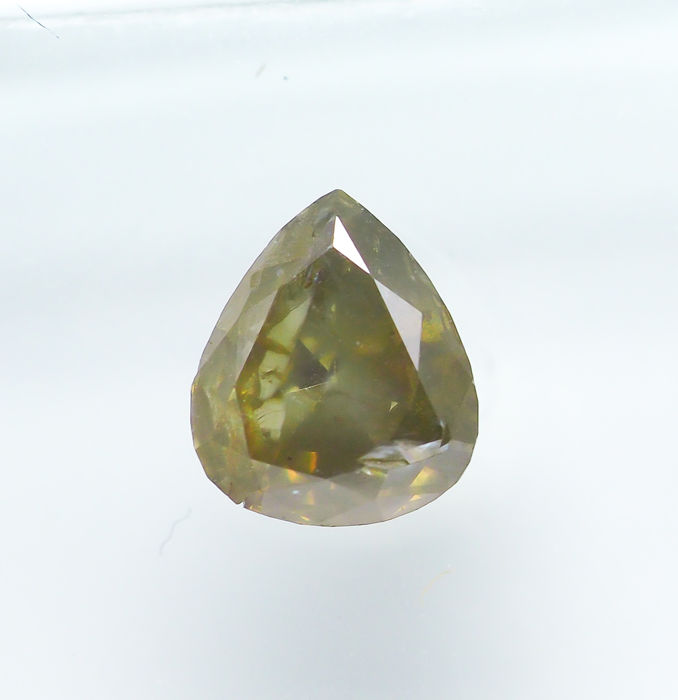 Diamant - 0.79 ct - Natural Fancy Brownish Yellow - I2 *NO RESERVE*