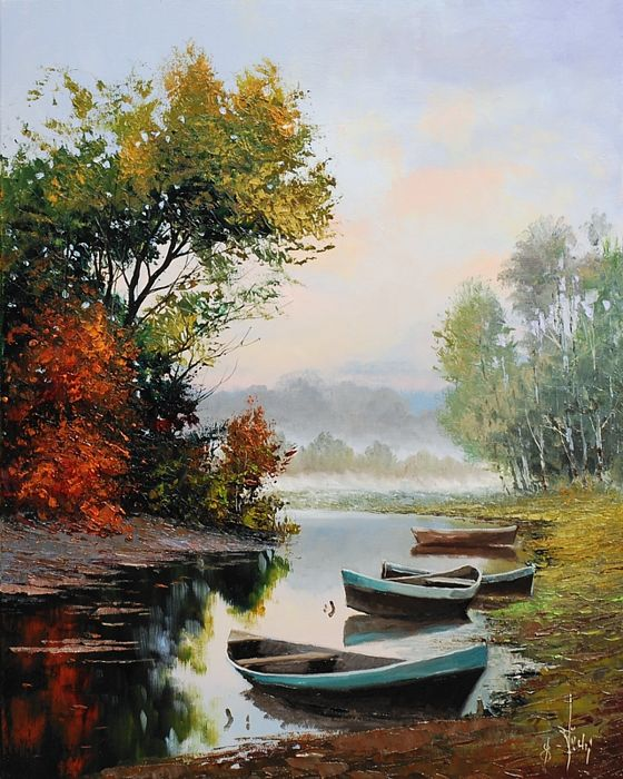Jacek Łącki - Fog on the lake