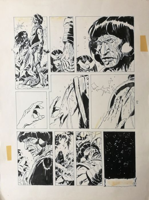 Avrak - Enrique Breccia - original page - First edition - (1980)