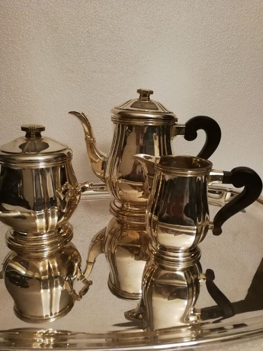 Coffee and tea service (4) - Silverplate - France - 1940