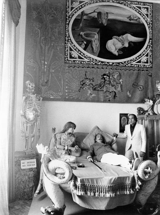 Enric Sabater (1936-2013) - Salvador Dali and others in his museum, Figueres, 1975