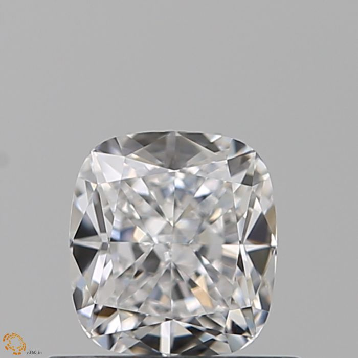 1 pcs Diamant - 0.53 ct - Kissen - D (farblos) - IF (makellos)