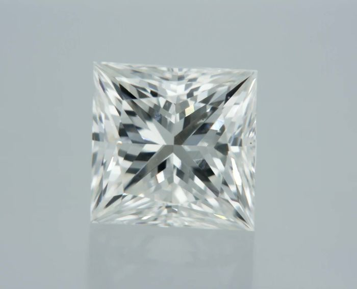 1 pcs Diamant - 0.61 ct - Prinses - I - SI1