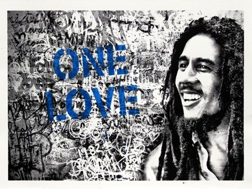 Mr Brainwash - Happy Birthday Bob Marley - One Love