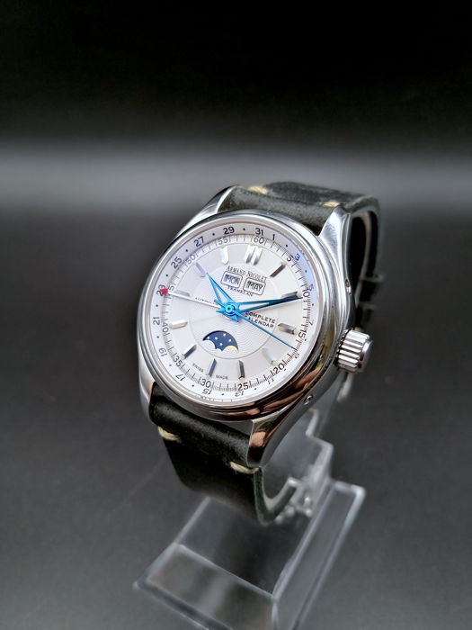 "Armand Nicolet - Full Calendar Moon Phase - ""NO RESERVE PRICE"" - Heren - 2000-2010"