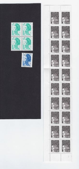 Frankrijk 1982/1997 - Nice lot of stamps with no phosphor strips - all signed Calves - Maury 2186b, 2194a, 3070-Ib